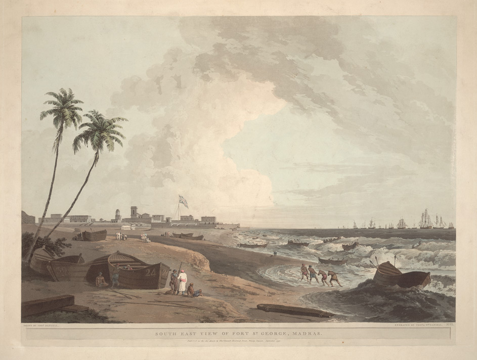 South East view of Fort St George, Madras, India
